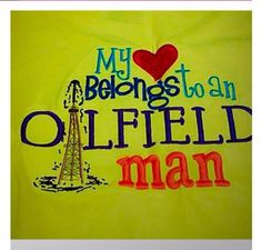 A personal favorite from my Etsy shop https://www.etsy.com/listing/216715163/oilfield-design-shirt