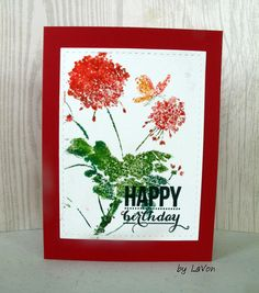 """https://flic.kr/p/FKavxF   PB Light Touch Birthday   This is the first generation stamping on watercolor paper using a combination of Distress Ink pads and pens.  A bit darker with more contrast. Used Penny Black/  Cling 40-449 """" Light Touch""""   Clear 30-297 """"Sprinkles & Smiles"""""""