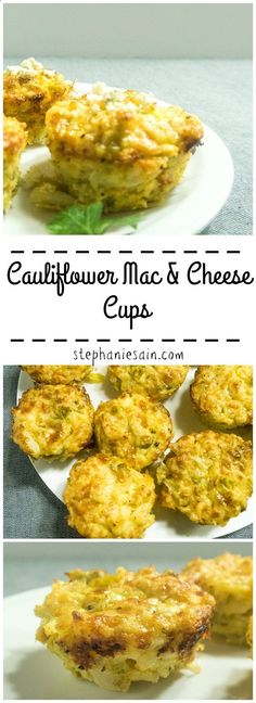 Cauliflower Mac  Cheese Cups are a tasty, healthy and portable way to get in your veggies. Vegetarian  Gluten Free.