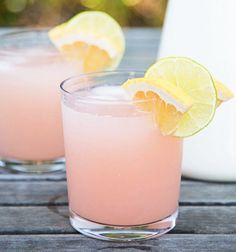 Palomas | Our friend Sam made these on the 4th of July this year and showed us just how easy they are to put together. We like to think of them as a cheat's margarita. @goop