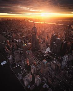 Manhattan from above by Paul Seibert Photography @pseibertphoto - New York City Feelings