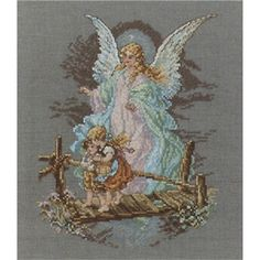 Guardian Angel Counted Cross Stitch Kit