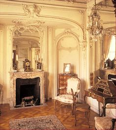 The design for Marble House was inspired by the Petit Trianon at the Palace of Versailles. Designed by Jules Allard and Sons of Paris.