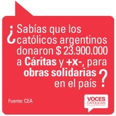 """Pieza DONACIONES de la campaña viral """"¿Sabías que?"""" para Voces Católicas Argentina."""