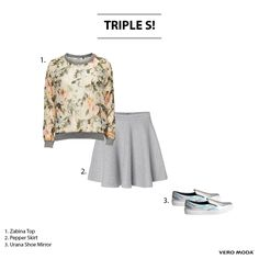 Sweater, skirt and sneakers... The perfect triple S look!