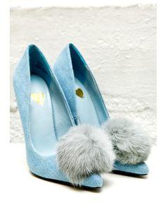 16167eaa5ed4 Denim Playboi Puff Heels Shoes Heels Pumps