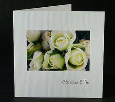 These elegant square folding wedding invitations have a photo of white roses on the front. www.kardella.com Wedding Invitations Australia, Vintage Wedding Invitations, Wedding Stationery, Wedding Songs, Wedding Venues, Wedding Ideas, Wedding Card Messages, Wedding Cards, Vintage Wedding Theme