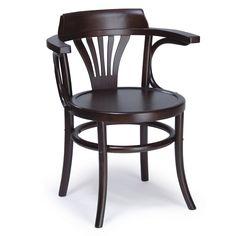 Silla Wood $43.000 + IVA  Silla de madera clásica, pata torneadas, asiento de madera.  Ancho: 40 cm Largo: 47 cm Altura: 89 cm Altura asiento: Color: Café oscuro Material: Madera de olmo  Código Producto: ASC-012