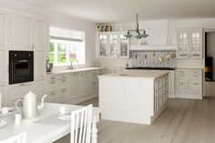 In Denmark they like the kitchen to be white.