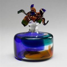 Salviati-Murano-art-glass-stoppered-bottle-Lot-143