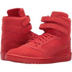 05d1323626fe2e PUMA Sky II Hi Mono NBK (Flame Scarlet White) Men s Basketball Shoes ( 40)  ❤ liked on Polyvore featuring men s fashion