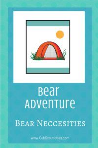 Bear Neccesities is a Bear Cub Scout required adventure.  Check out all the awesome things your Cub Scout can do to complete this adventure.