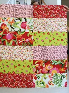 Afternoon Six and a Half Dozen Baby Quilt Pattern - You can make this beautiful new baby quilt pattern in an afternoon. Don't believe us? Then grab your favorite fat quarter quilt patterns and check out this fun little beginner quilt tutorial.