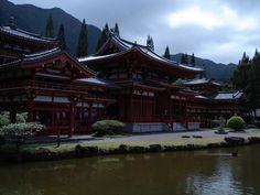The Byodo In Temple on Oahu.  Beautiful!