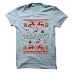 nice Christmas ALLAN ... 999 Cool Name Shirt ! - Best price Check more at http://pricecomparisonsof.com/christmas-allan-999-cool-name-shirt-best-price/