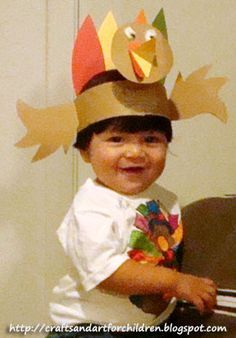 turkey crafts for adults | Kids Turkey Hat Craft & Handmade Color Your Own Thanksgiving T-shirt