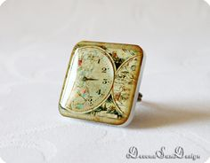 Ring Steampunk Gift idea for her under 30 50 by SunDevonaDesign, $16.00