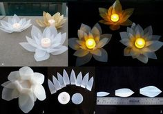 DIY Modular Flower Candle Ornament DIY Projects / UsefulDIY.com on imgfave