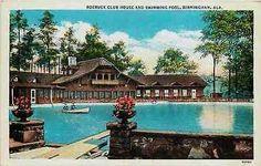 Birmingham Alabama AL 1916 Roebuck Club House Swimming Pool Vintage Postcard