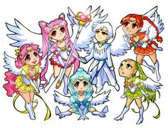 Chibi Helios and Pink Ladies by ~Azure-and-Copper on deviantART