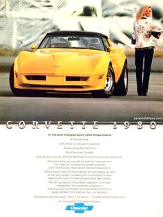 1980 Corvette - In this ever-changing world - Original Ad