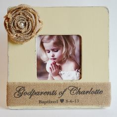 godparent picture frame godparents of name personalized choose size color