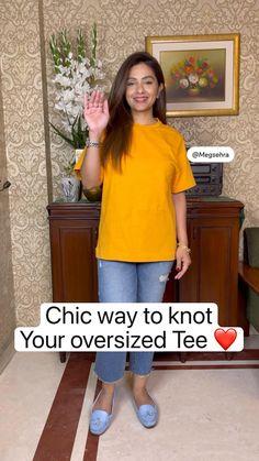 Casual Indian Fashion, Indian Fashion Dresses, Girls Fashion Clothes, Teen Fashion Outfits, Diy Clothes Life Hacks, Clothing Hacks, Stylish Dresses For Girls, Stylish Dress Designs, Diy Fashion Hacks