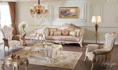Venice Lüks Klasik Koltuk Takımı #Koltuk #Moda #Dekorasyon #Decoration #Home #SofaSet #LivingRoom #Mobilya #Furniture