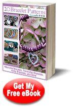 Free Bracelet Patterns from FaveCrafts.com: 20 Bracelet Patterns: Macrame Bracelets, Friendship Bracelets, Hemp Bracelets, and More eBook