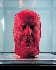 'Self', 2001 Marc Quinn makes self-portraits using nine pints of his own, frozen blood. His idea is inspired by Rembrandt's self-portraits, and Quinn intends to make one every five years. Entitled Self, the blood sculptures require him to visit the doctor every six weeks to have blood taken out. One was bought up by the Saatchi gallery, but began to melt after it was rumoured Nigella Lawson accidentally turned the refrigerator off.