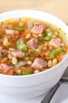 Bean Soup #Comfort_food #Recipe---Reviews give some good suggestions for this soup.