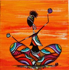 Discover recipes, home ideas, style inspiration and other ideas to try. Worli Painting, Fabric Painting, African Art Paintings, African Artwork, Afrique Art, Mini Canvas Art, African American Art, Tribal Art, Mandala Art