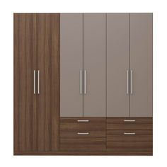 Guarda-Roupa Casal Minos Ebano e Atacama Wall Wardrobe Design, Wardrobe Door Designs, Walk In Closet Design, Bedroom Closet Design, Bedroom Furniture Design, Wardrobe Doors, Bedroom Wardrobe, Closet Designs, Walldrobe Design