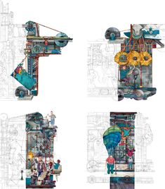 Young Architect Guide: 5 Ways to Tell Your Story Through Drawings Alone - Architizer Journal Bartlett School Of Architecture, Cultural Architecture, Architecture Drawings, Architecture Design, Graphic Design Illustration, Illustration Art, Illustrations, Architectural Section, Architectural Presentation