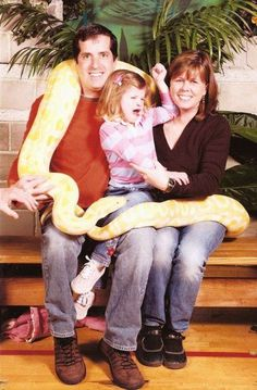 The snake is being good...  Oh, why can't Tina never behave???