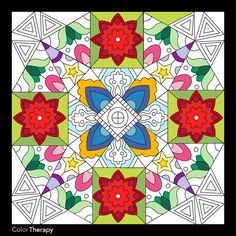 I colored this myself using Color Therapy App. It was so fun and relaxing! And it's Free! Therapy, Kids Rugs, App, Quilts, Blanket, Free, Color, Home Decor, Homemade Home Decor