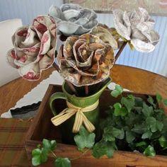 """""""#inspiração #flores #fuxico #tecido #arranjo #decoração #artesanato #craft #handmade #patchwork #tecido #sew #sewing #iloveit #Amoartes #artdecor"""""""