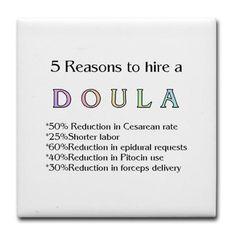 Hire a Doula! Tile Coaster