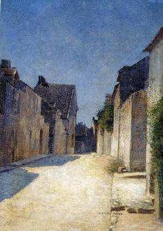 Odilon Redon    Village street in Samois  -  1888