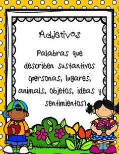 Parts of Speech / Las Partes de la Oracin / AdjetivosThis set has been designed to help students to understand and practice this basic part of speech in Spanish: Adjectives (adjetivos)It includes 12 pages.