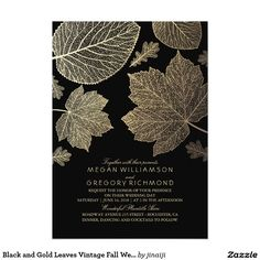 Burgundy and Gold Leaves Fall Bridal Shower Invitation Fall bridal shower invitations with burgundy and gold rustic woodland leaves ❤ Affiliate ad link. Customize these invitations / products for your weddings. Country Wedding Invitations, Rehearsal Dinner Invitations, Engagement Party Invitations, Beautiful Wedding Invitations, Wedding Invitation Design, Wedding Themes, Wedding Venues, Wedding Ideas, Shower Invitations