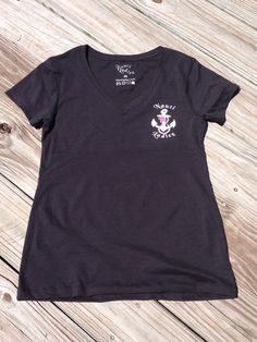 Nauti Ladiez Black Short Sleeve V-Neck