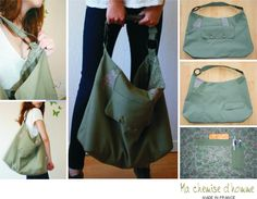A #diy #repurpose for a men's suit jacket into a bag from #machemisedhomme
