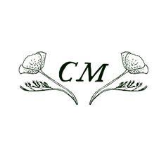 California Poppy Monogram Design by Cast Calligraphy