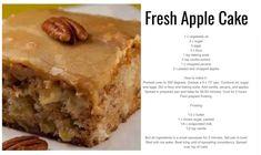 Fresh AppleCake Fresh Apple Cake, Fresh Apples, Prime Rib Au Jus, Cupcake Cakes, Cupcakes, Baking Soda, Banana Bread, Vanilla, Cupcake
