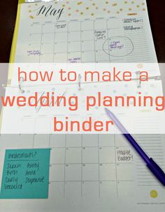 Get your big day organized with this easy and affordable DIY wedding planning binder.