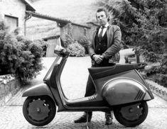Paolo Martin with the Vespa GS H2O.