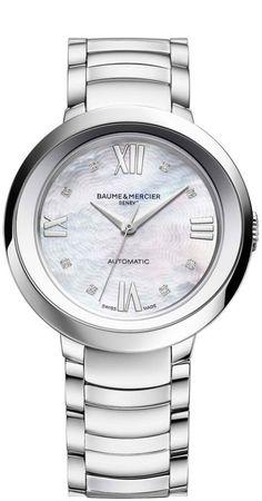 Baume et Mercier Watch Promesse #add-content #bezel-fixed #bracelet-strap-steel…