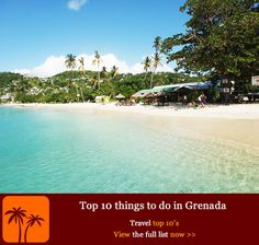 Top 10 things to do in Grenada. The so-called Spice Island is an eco-lover's paradise complete with sugar-white sandy beaches, lush rainforests, wildlife sanctuaries and prolific spice plantations. We discover the top 10 things to do in Grenada – the laid-back Caribbean hotspot