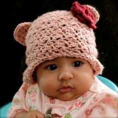 Little Bear Beanie Hat with Ear Flaps by kariodesigns on Etsy, $18.00